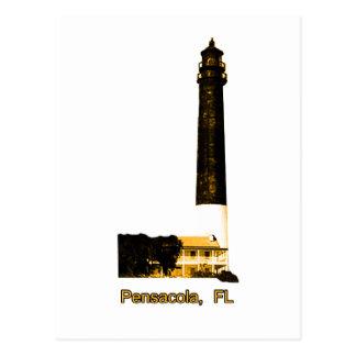 Pensacola FL Lighthouse Gold The MUSEUM Zazzle Gif Postcard