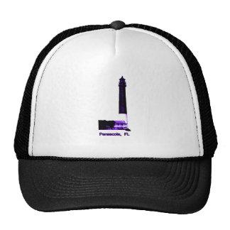 Pensacola FL Lighthouse Purple The MUSEUM Zazzle Mesh Hat