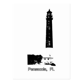 Pensacola FL Lighthouse White The MUSEUM Zazzle Gi Postcard