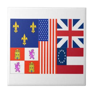 Pensacola Flag Small Square Tile