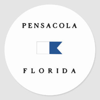 Pensacola Florida Alpha Dive Flag Round Sticker