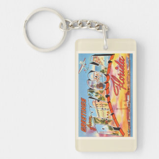 Pensacola Florida FL Old Vintage Travel Souvenir Keychain