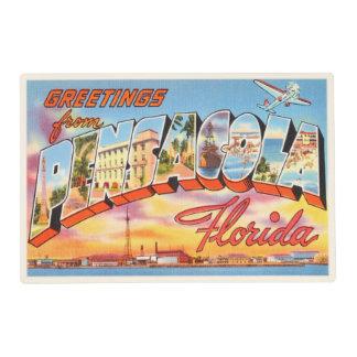 Pensacola Florida FL Old Vintage Travel Souvenir Placemat