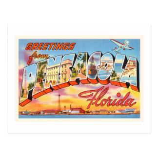 Pensacola Florida FL Old Vintage Travel Souvenir Postcard