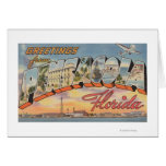 Pensacola, Florida - Large Letter Scenes 2 Greeting Card