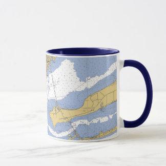 Pensacola Florida Nautical harbor chart Coffee Mug