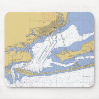 Pensacola Florida Nautical Harbor Chart Mousepad