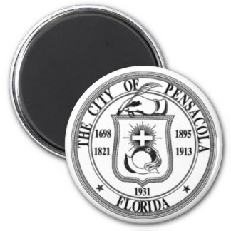 Pensacola Seal 2 Inch Round Magnet