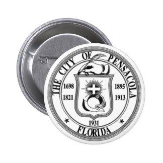 Pensacola Seal Pinback Buttons