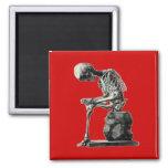 Pensador adaptable del esqueleto del vintage iman de nevera
