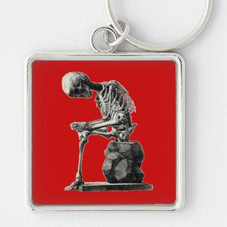 Pensador adaptable del esqueleto del vintage llaveros