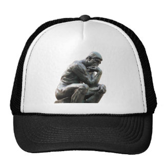 Pensador de Rodin - gorra del casquillo de pensami