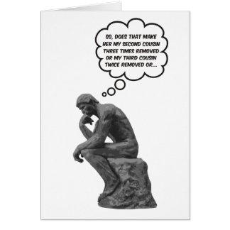Pensador de Rodins - primos Tarjeta De Felicitación