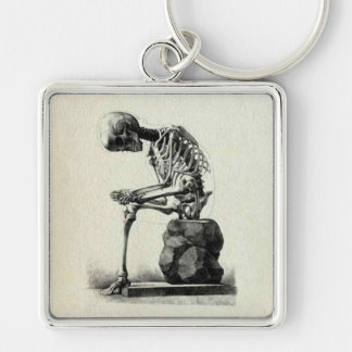 Pensador del esqueleto del vintage llavero