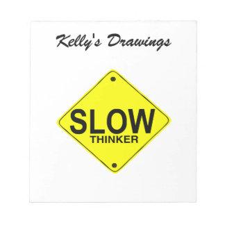 Pensador lento blocs de notas