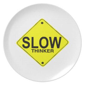 Pensador lento plato