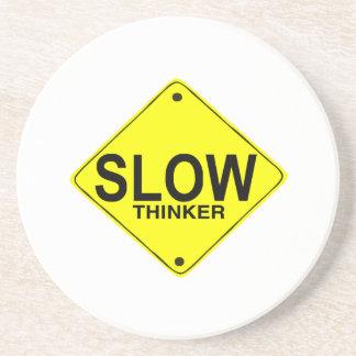 Pensador lento posavasos de arenisca