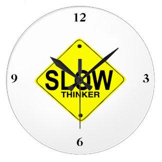 Pensador lento reloj redondo grande
