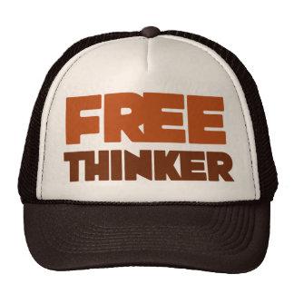 Pensador libre que usa lógica y razón gorros bordados