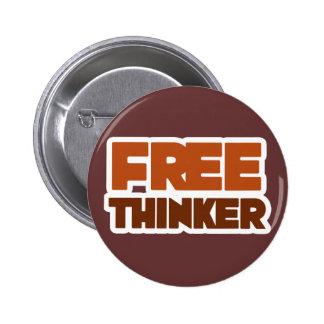 Pensador libre que usa lógica y razón pin redondo 5 cm
