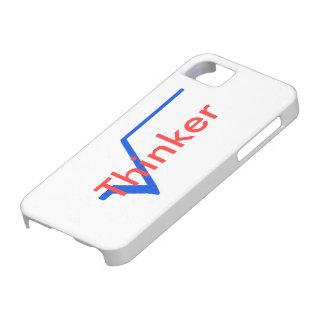 Pensador radical (azul y rojo) iPhone 5 fundas