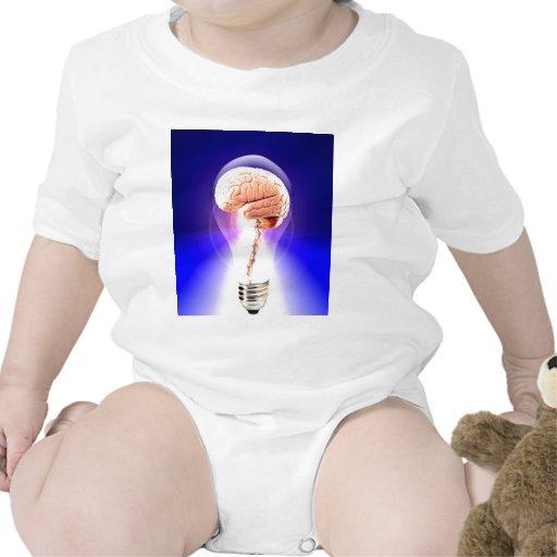 Pensador y luz elegantes de vivo camiseta