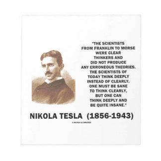 Pensadores claros de Nikola Tesla sanos pensar Libretas Para Notas