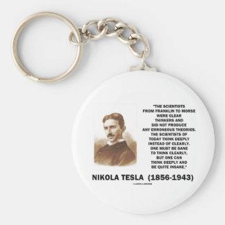Pensadores claros de Nikola Tesla sanos pensar cla Llaveros