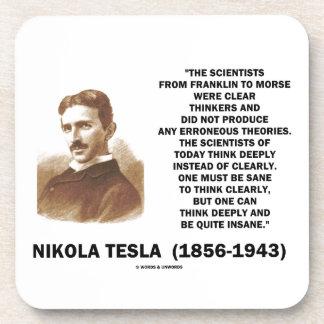Pensadores claros de Nikola Tesla sanos pensar Posavasos De Bebidas