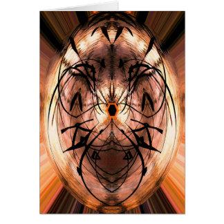 Pensamiento abstracto mágico en usted tarjeta de felicitación