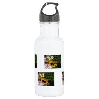 Pensamiento amarillo botella de agua de acero inoxidable