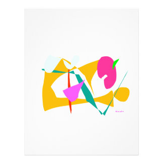 "Pensamiento amarillo folleto 8.5"" x 11"""