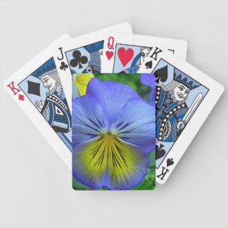 Pensamiento azul barajas de cartas
