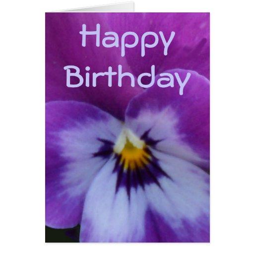 Pensamiento azul púrpura de la lavanda tarjeta