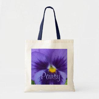 Pensamiento azul violeta bolsa tela barata