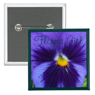 Pensamiento Azul-Violeta Pin Cuadrado