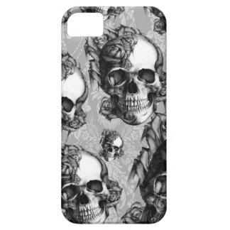 Pensamiento blanco y negro modelo multi del cráne iPhone 5 Case-Mate cárcasas
