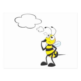 Pensamiento de la abeja postales