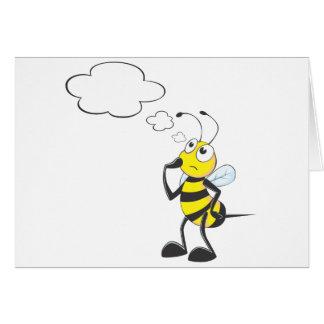 Pensamiento de la abeja tarjeta de felicitación