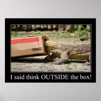 Pensamiento de la caja póster