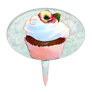 Pensamiento de la magdalena w del chocolate palillos de tarta