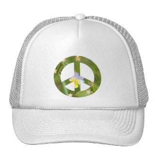 Pensamiento de la paz gorros