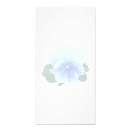 Pensamiento de los azules cielos tarjeta personal