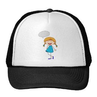 Pensamiento del chica gorras de camionero