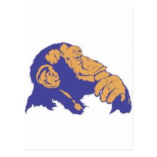 Pensamiento del chimpancé postales