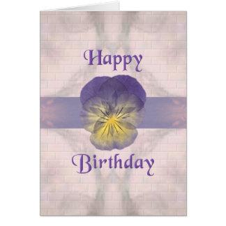 Pensamiento del ~ del cumpleaños del ~ de las tarjeta de felicitación