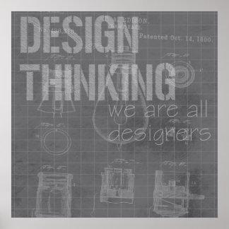 Pensamiento del diseño (1 de 6) póster