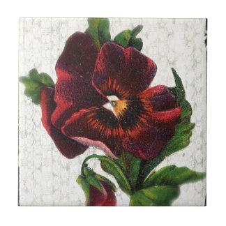 Pensamiento del rojo del estilo del vintage azulejos ceramicos