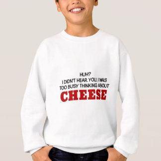 Pensamiento demasiado ocupado en el queso camisas
