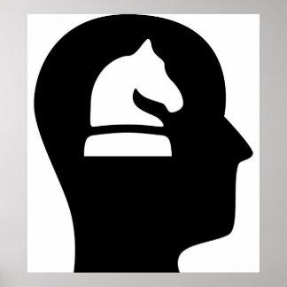 Pensamiento en ajedrez poster